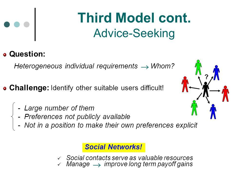 Social Networks.Third Model cont.