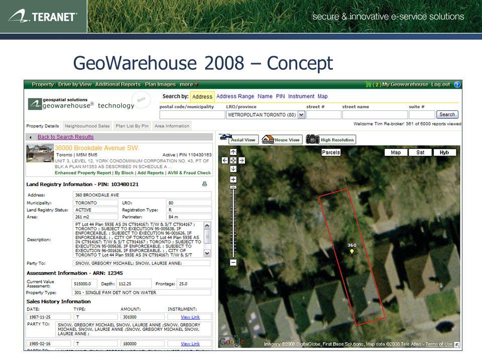 GeoWarehouse 2008 – Concept