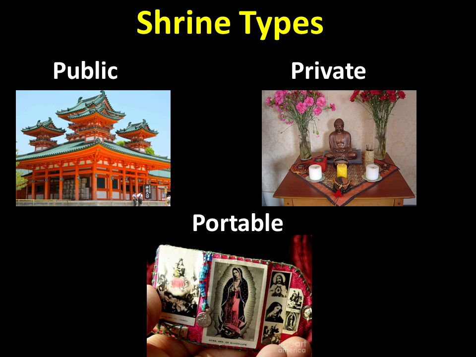 Shrine Types Public Private Portable