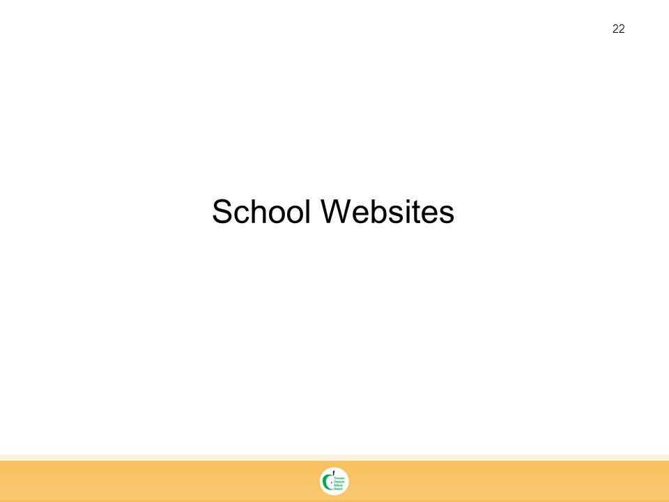 22 School Websites