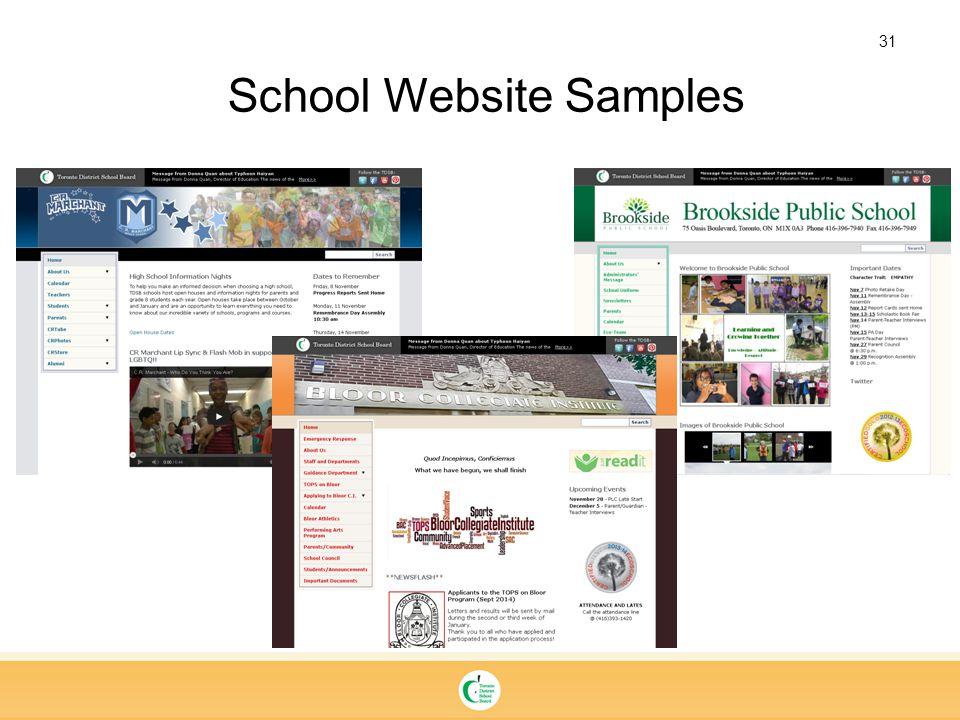 31 School Website Samples
