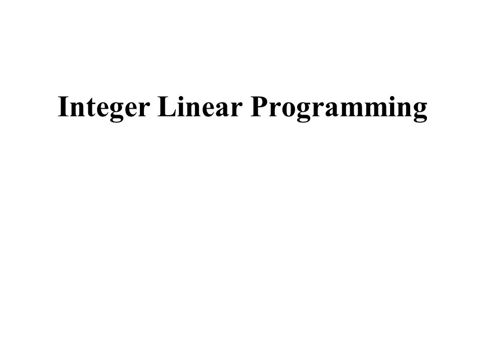Introduction Integer L P problem (P) F(P) = feasible domain of P Exemple