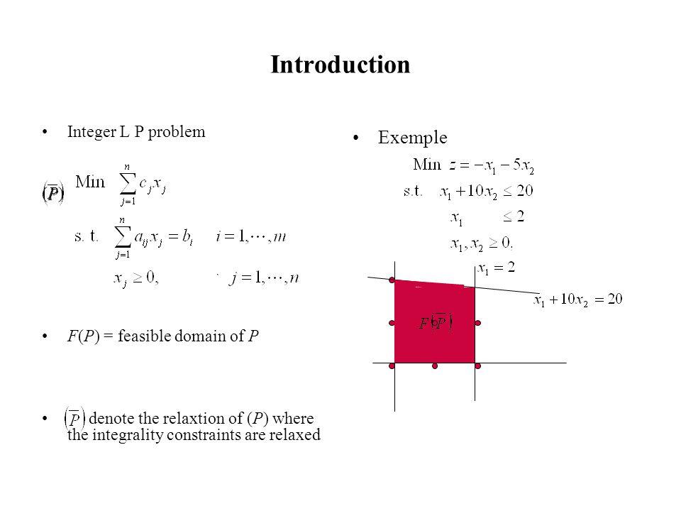 Introduction Integer L P problem (P)(P) How to solve the problem.
