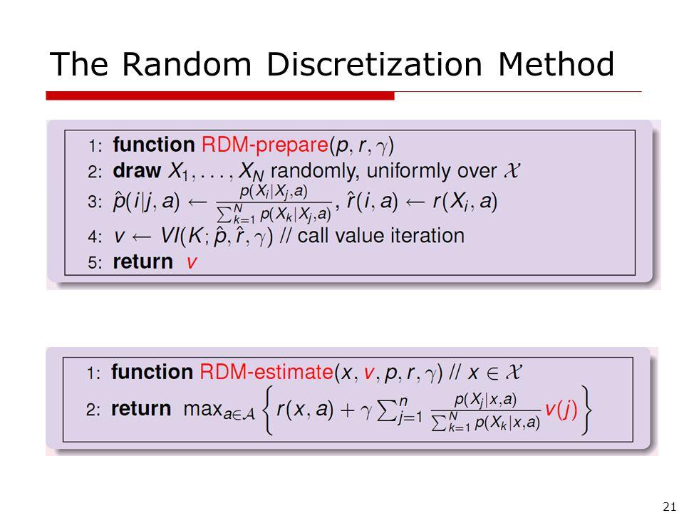 21 The Random Discretization Method