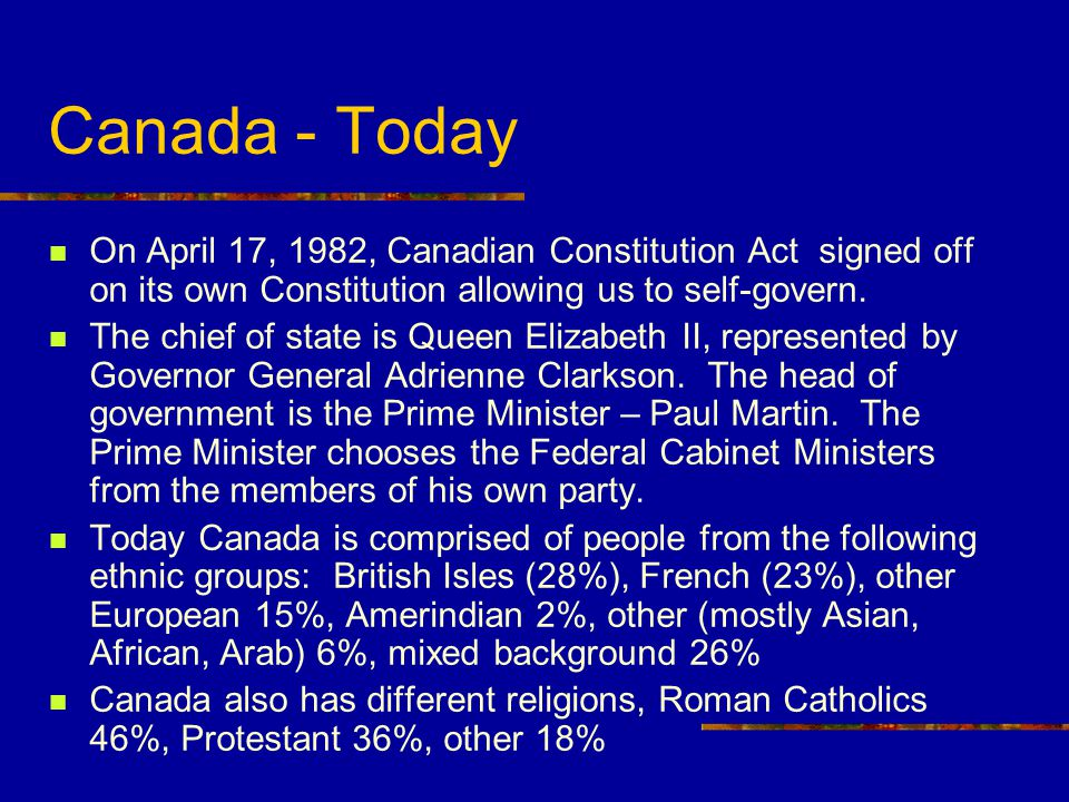 Canada - Yesterday Canada was settled by the Native peoples. European explorers arrived and began exploring Canada. Such explorers were: 1497 – John C