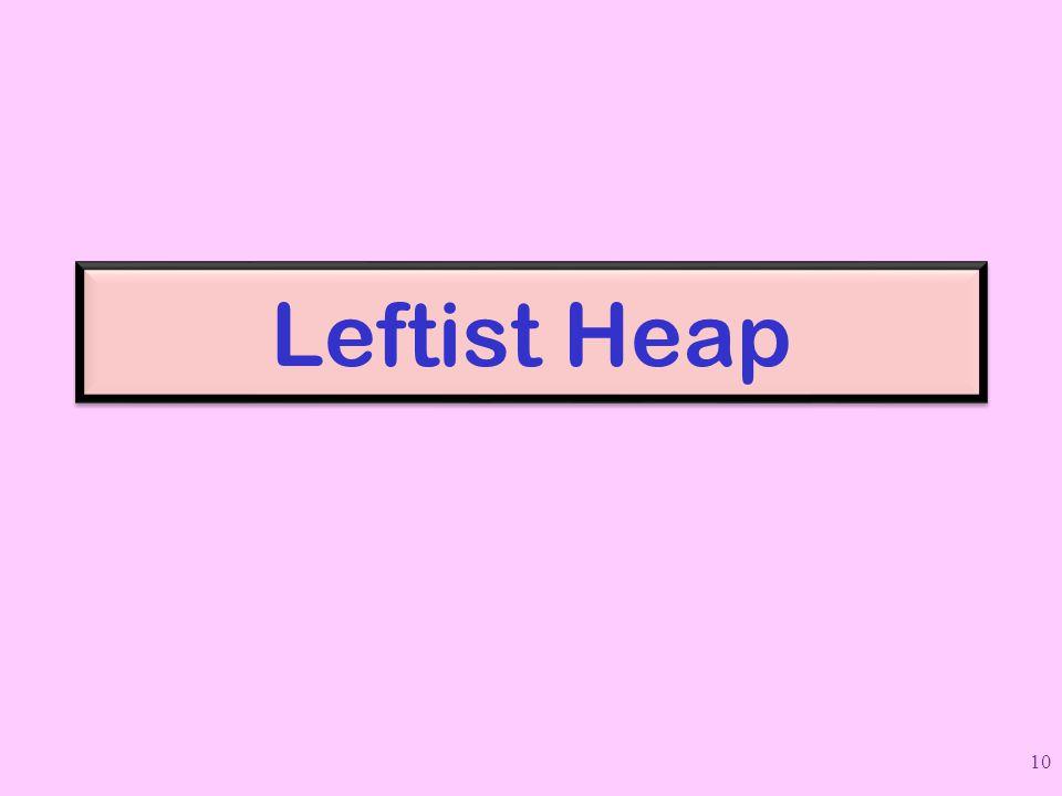 Leftist Heap 10