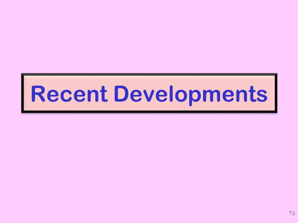 Recent Developments 73