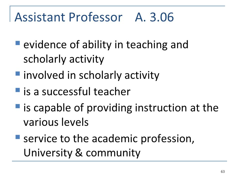 Assistant Professor A.