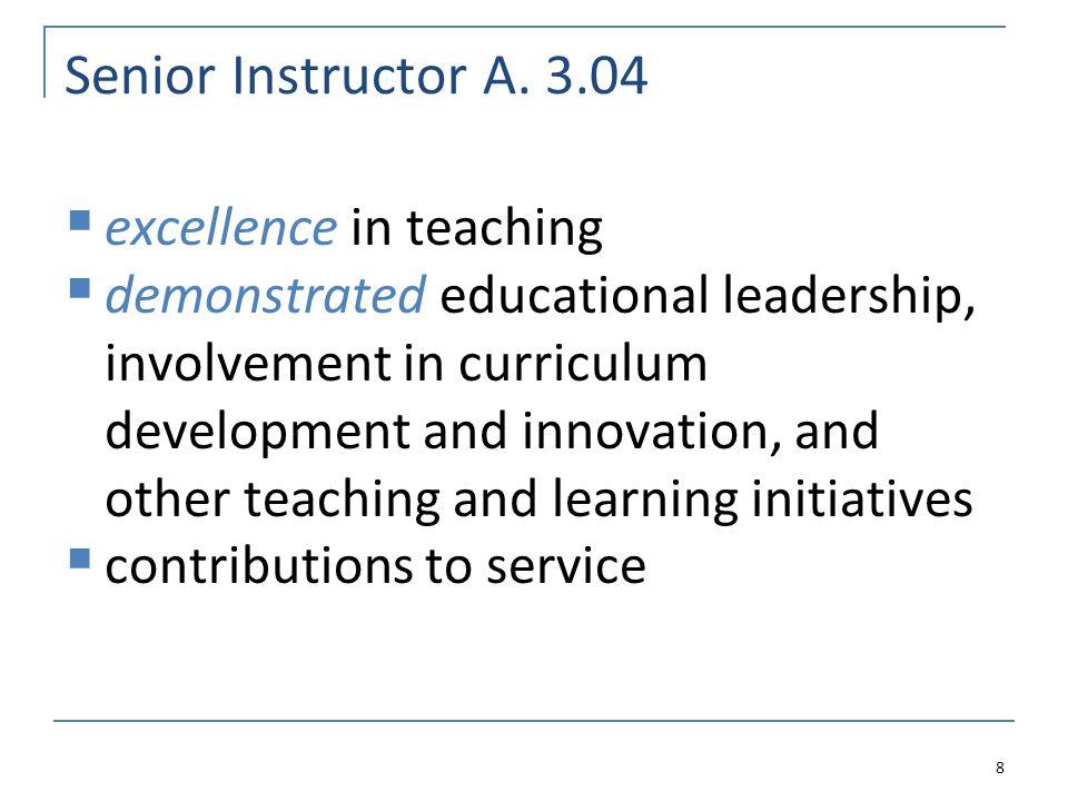 Teaching Effectiveness A.