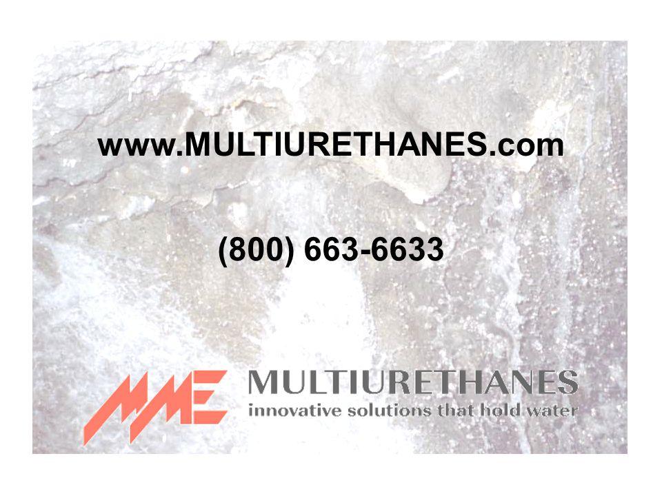 www.MULTIURETHANES.com (800) 663-6633