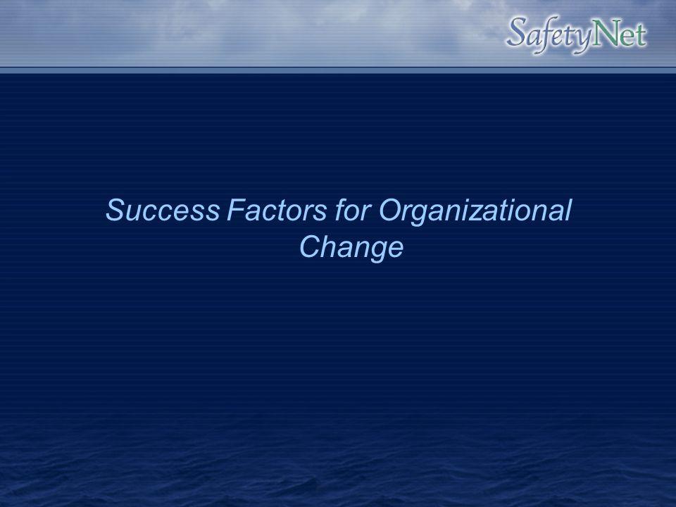 Success Factors for Organizational Change