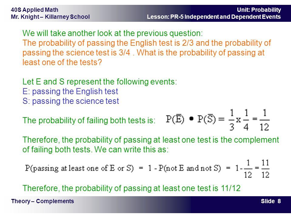 40S Applied Math Mr.