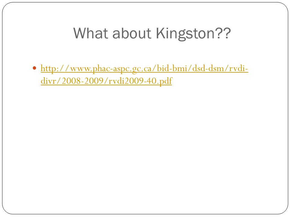What about Kingston?.