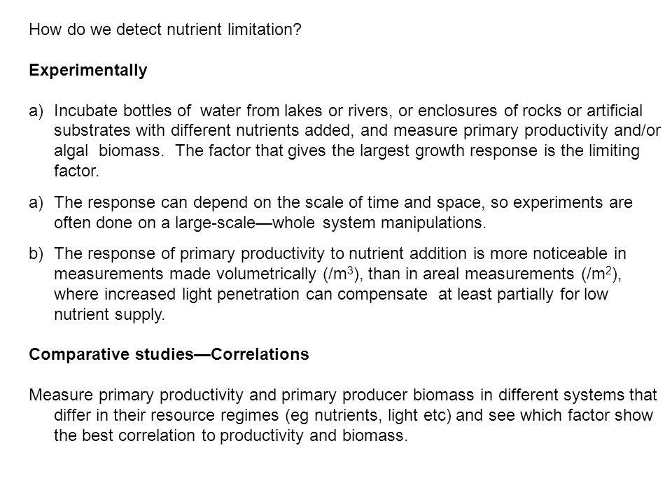 How do we detect nutrient limitation.