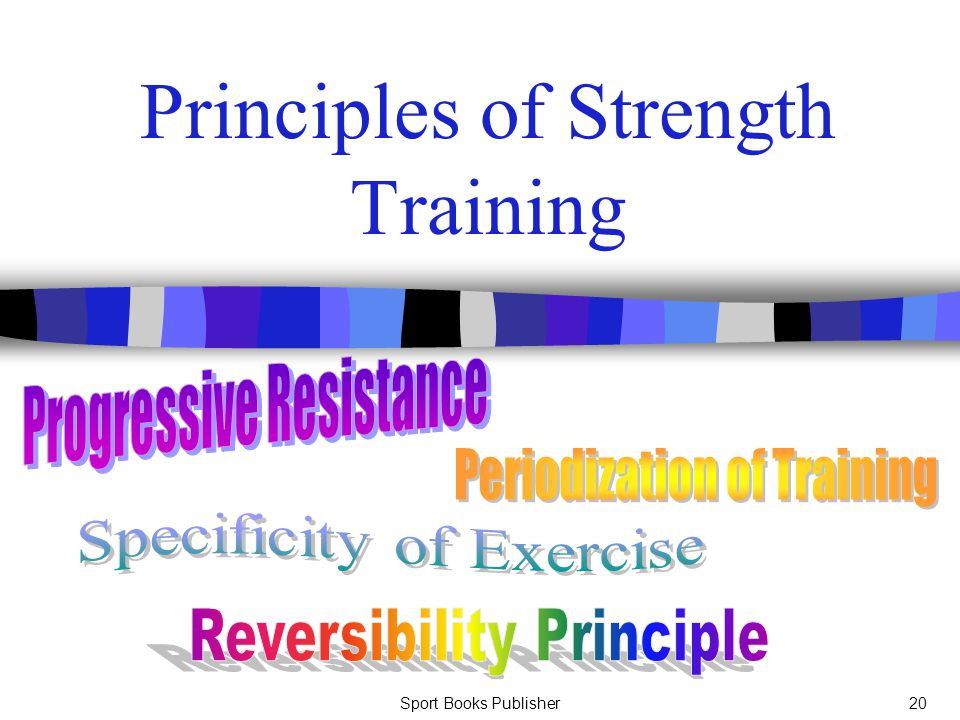 Sport Books Publisher20 Principles of Strength Training