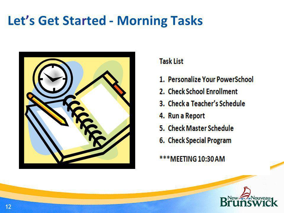 Let's Get Started - Morning Tasks 12