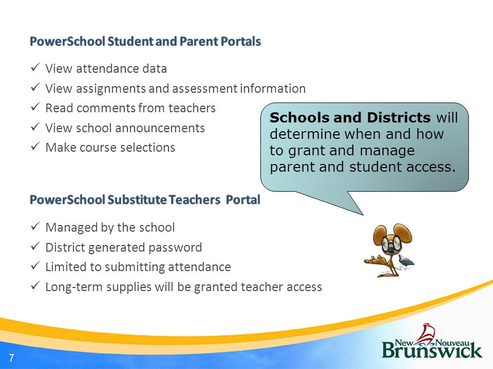 Attendance Procedures PowerSchool allows recording of both Period (meeting/class) and Daily attendance.