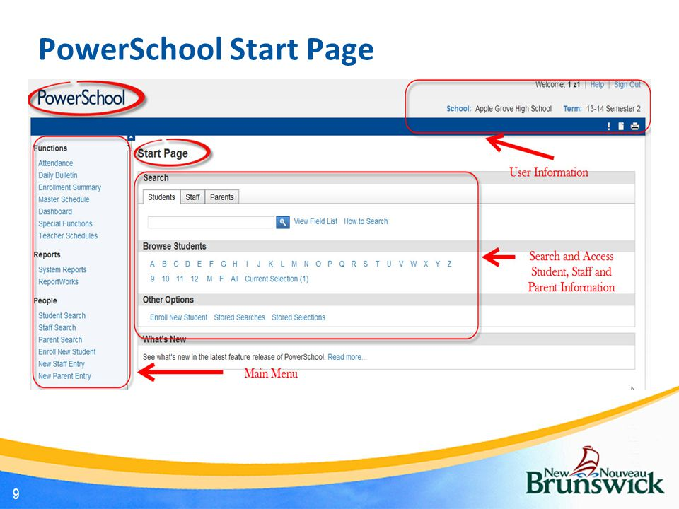 Task 2: View Enrollment Summary Step 1 of 3 On the Start Page; In the Main Menu scroll down to locate the Functions section.