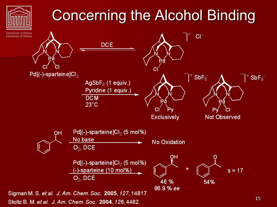 15 Concerning the Alcohol Binding Sigman M. S. et al.
