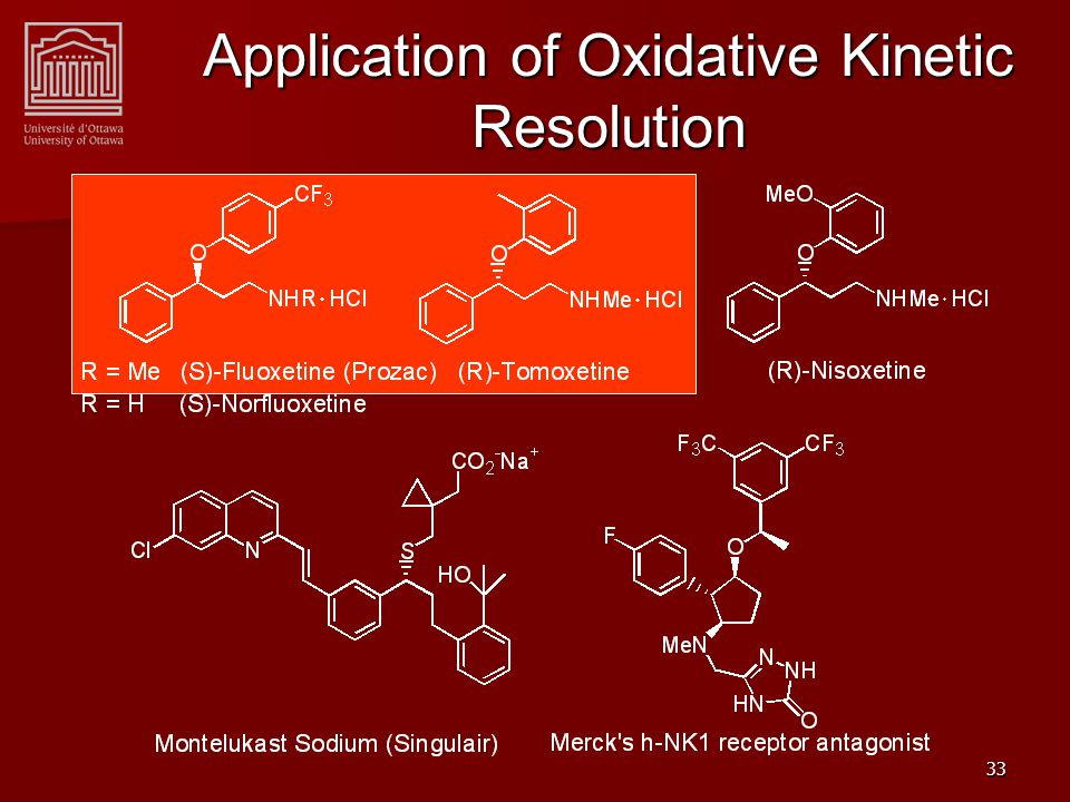 33 Application of Oxidative Kinetic Resolution