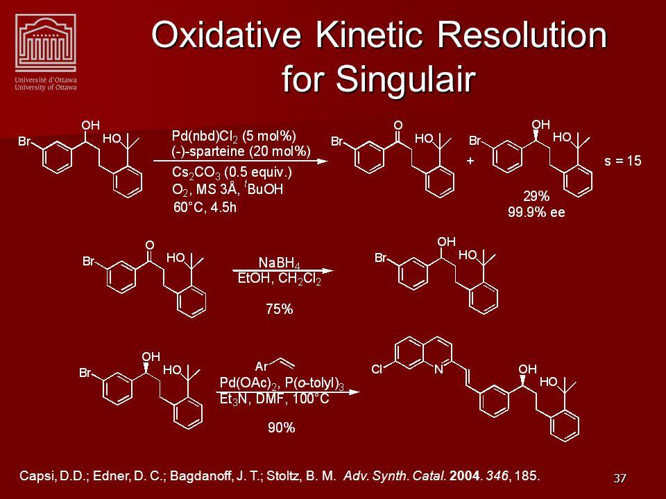 37 Oxidative Kinetic Resolution for Singulair Capsi, D.D.; Edner, D.