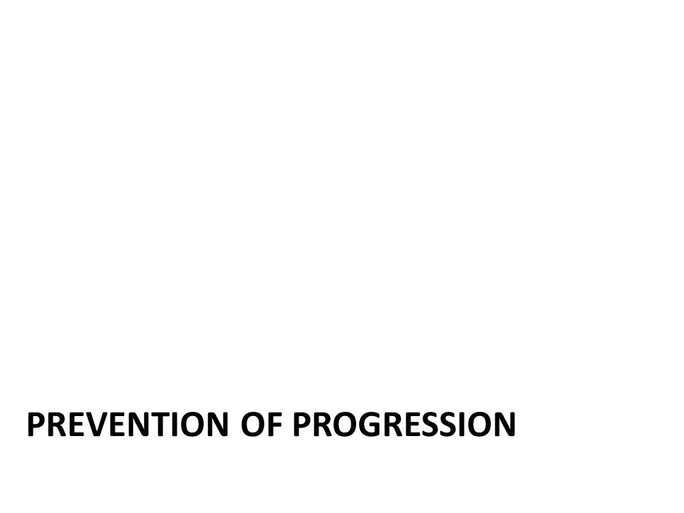 Prevention of disease progression Neuroprotection is an unmet need in Parkinson's disease and no drug can be recommended yet for this purpose in practice.