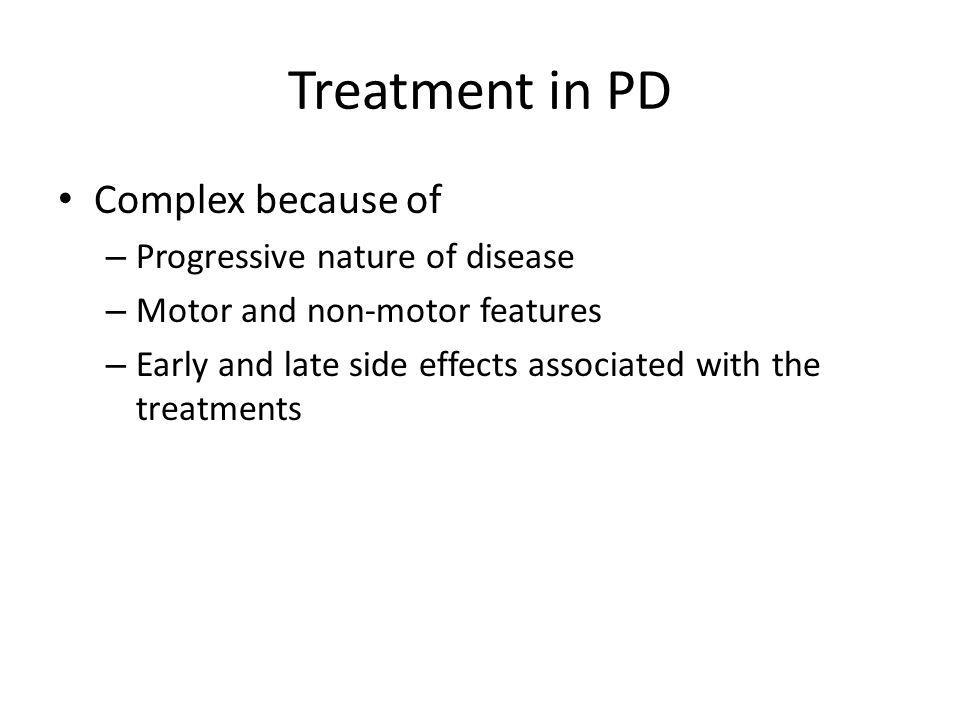 Question In which group of PD patients would you consider using anticholinergics.