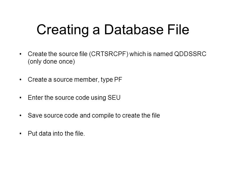 Example of DDS Columns... : 1 71 Browse DMENKEN/QDDSSRC SEU==> STUPF FMT PF.....A..........T.Name++++++RLen++TDpB......Functions++++++++++++++++++ ***