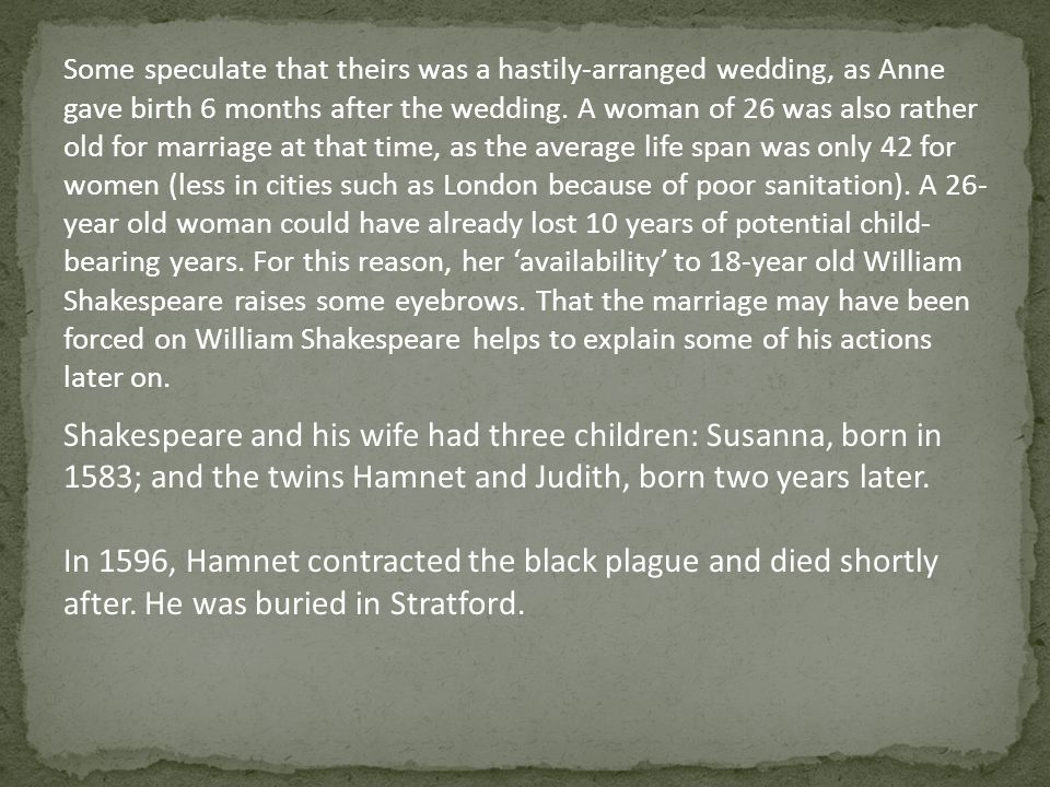 Some speculate that theirs was a hastily-arranged wedding, as Anne gave birth 6 months after the wedding.