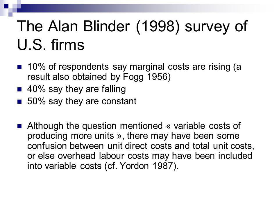 The Alan Blinder (1998) survey of U.S.