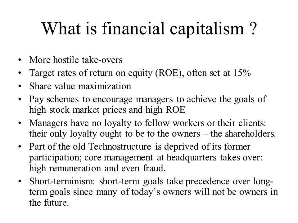 What is financial capitalism .