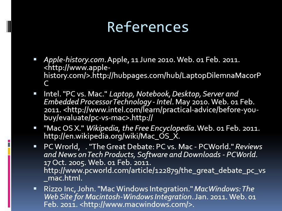 References  Apple-history.com. Apple, 11 June 2010.