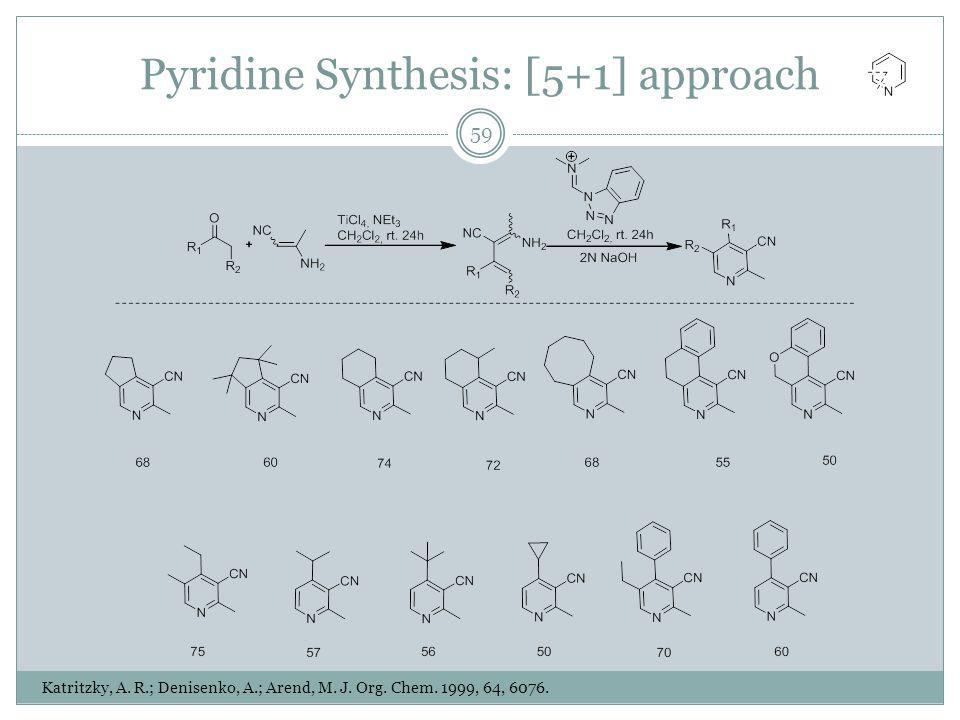 Pyridine Synthesis: [5+1] approach Katritzky, A. R.; Denisenko, A.; Arend, M.