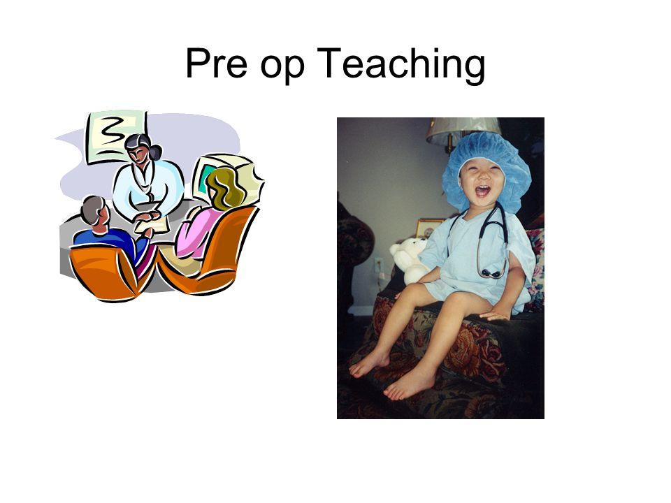 Pre op Teaching