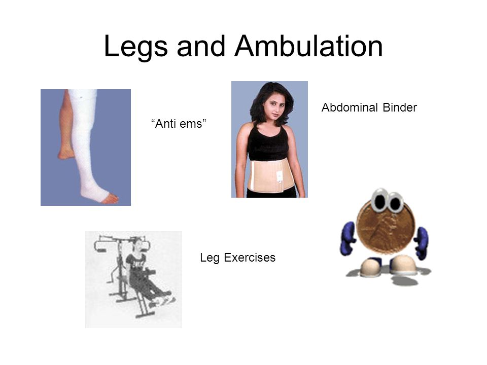 Legs and Ambulation Anti ems Abdominal Binder Leg Exercises
