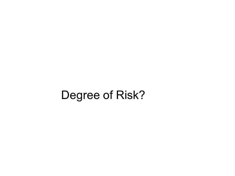 Degree of Risk?