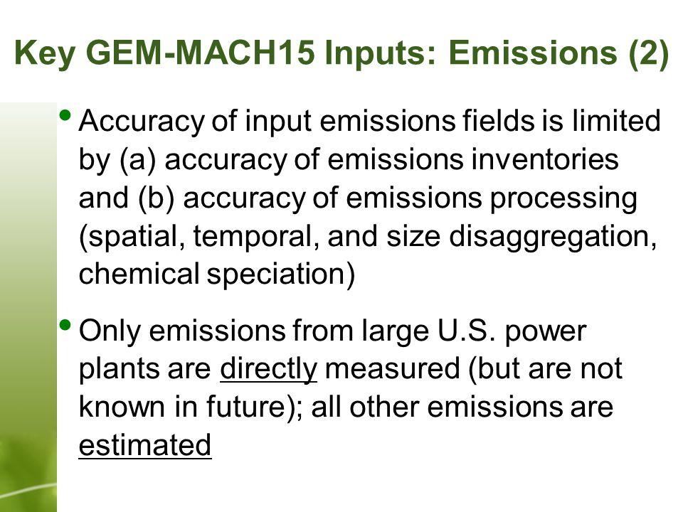Estimated 2011 Annual NO Emissions on GEM-MACH15 Domain
