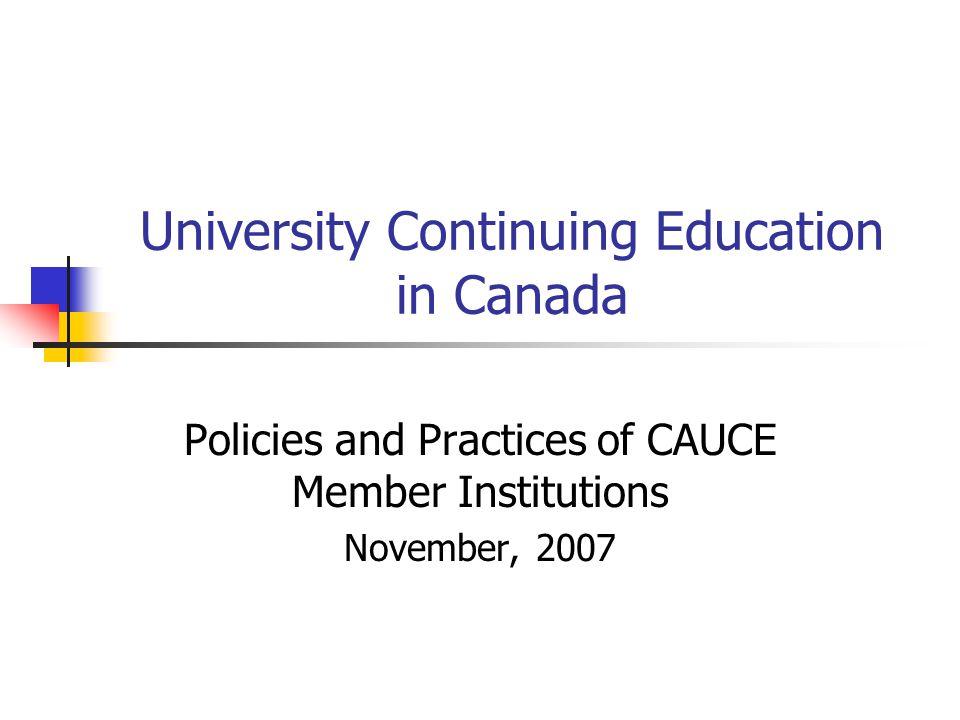 Non-Degree/Non-Credit: Role of Senior Acad.