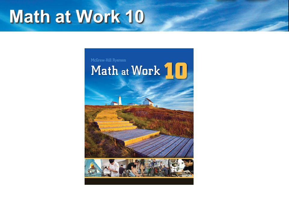 Math at Work 10 Math at Work 10