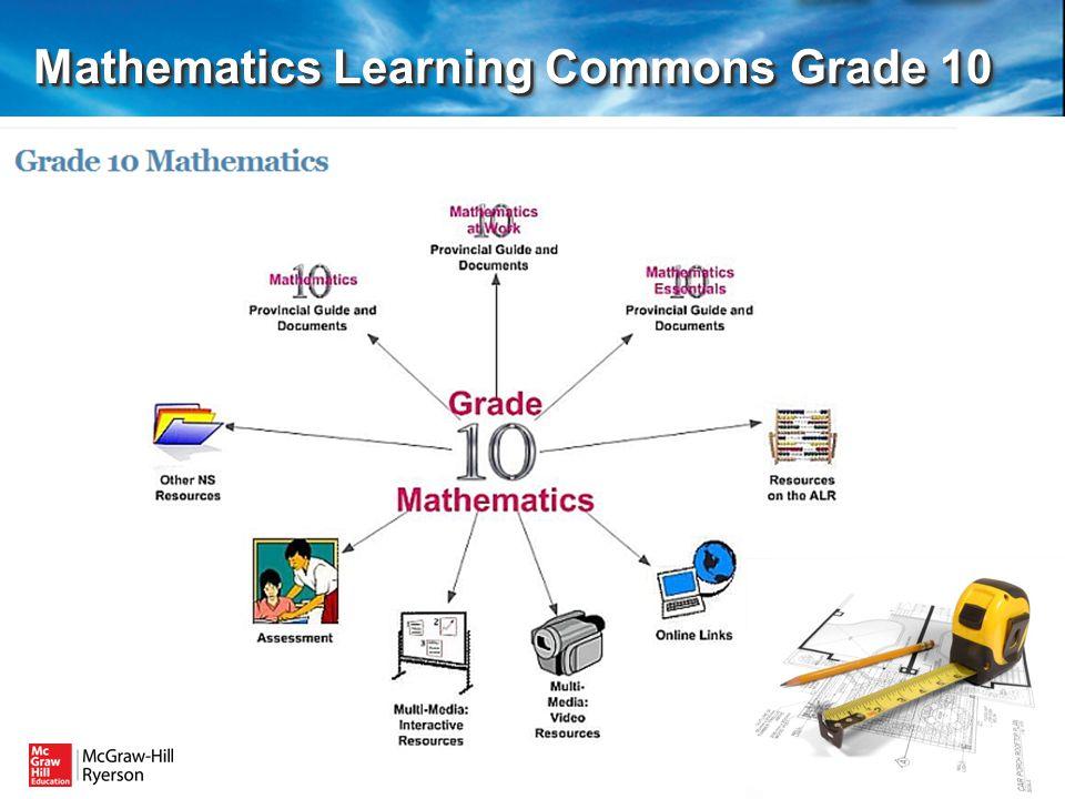 Mathematics Learning Commons Grade 10 Mathematics Learning Commons Grade 10