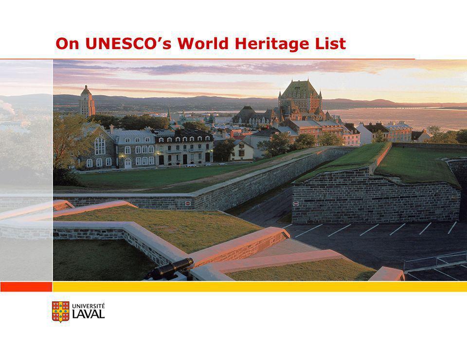 On UNESCO's World Heritage List