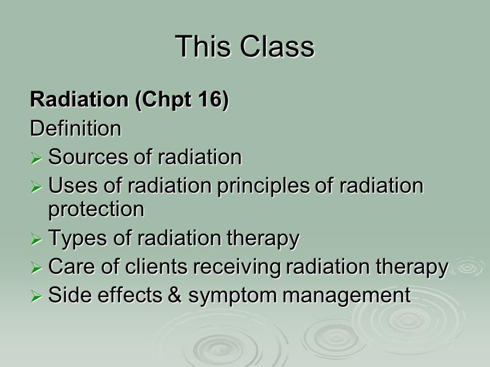 CELL / TISSUE RADIOSENSITIVITY