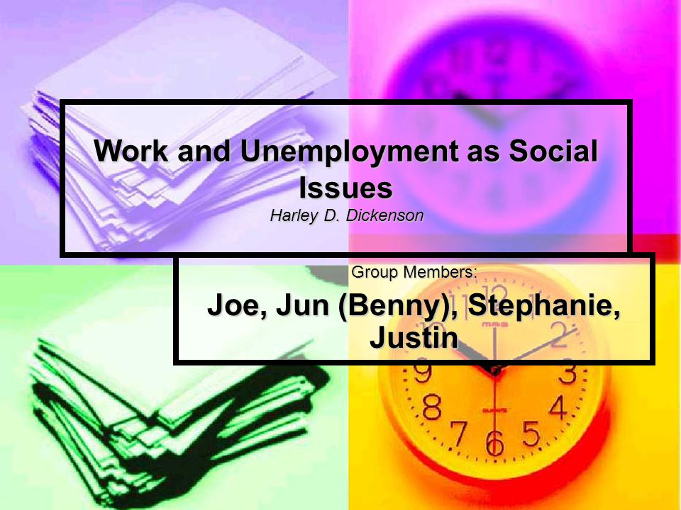 Main Argument Unemployment is appropriately understood as a social issue – and not just as a personal problem Unemployment is appropriately understood as a social issue – and not just as a personal problem Let's examine this further…