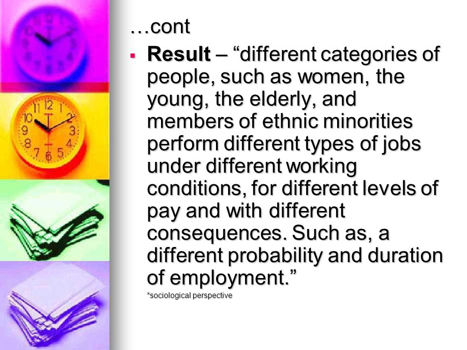 …cont  Increased labour-force participation by married women.