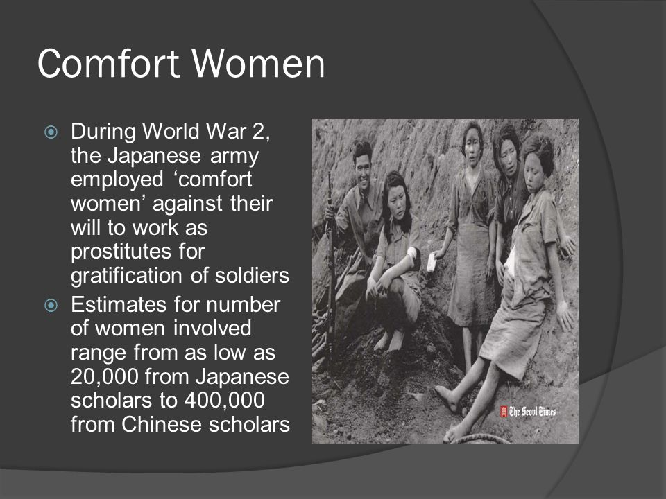 War Rape  Women often targeted and seen as objects/ war spoils to the male soldiers who encountered them  Often treated as reward for the soldiers' fighting  The treatment of conquered territories perceived as being the right of the victors to determine led to looting, rape, murder, and other atrocities  Also occurs with men, though not as frequently reported