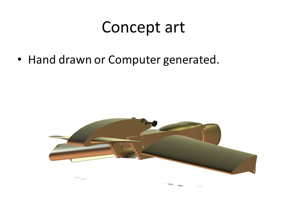 Concept art Hand drawn or Computer generated.
