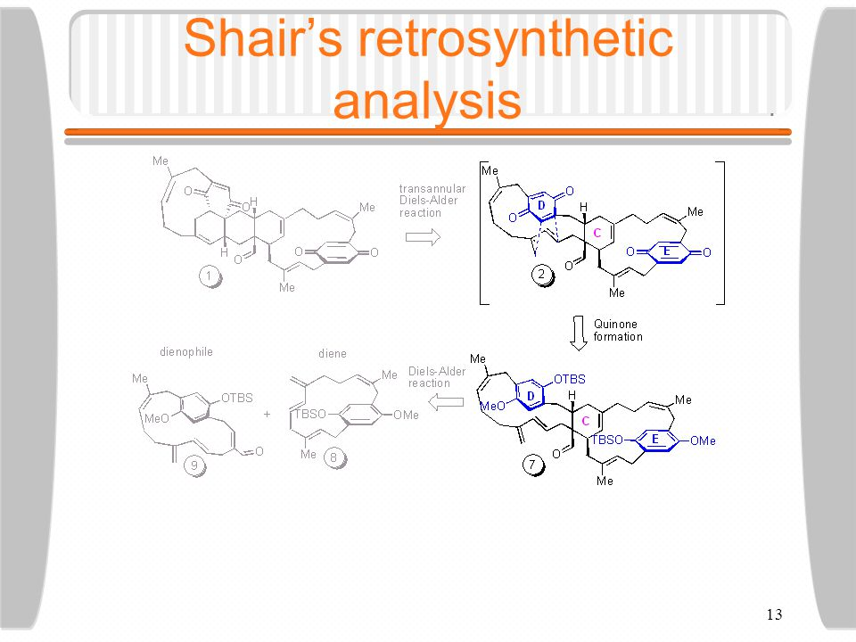 13 Shair's retrosynthetic analysis