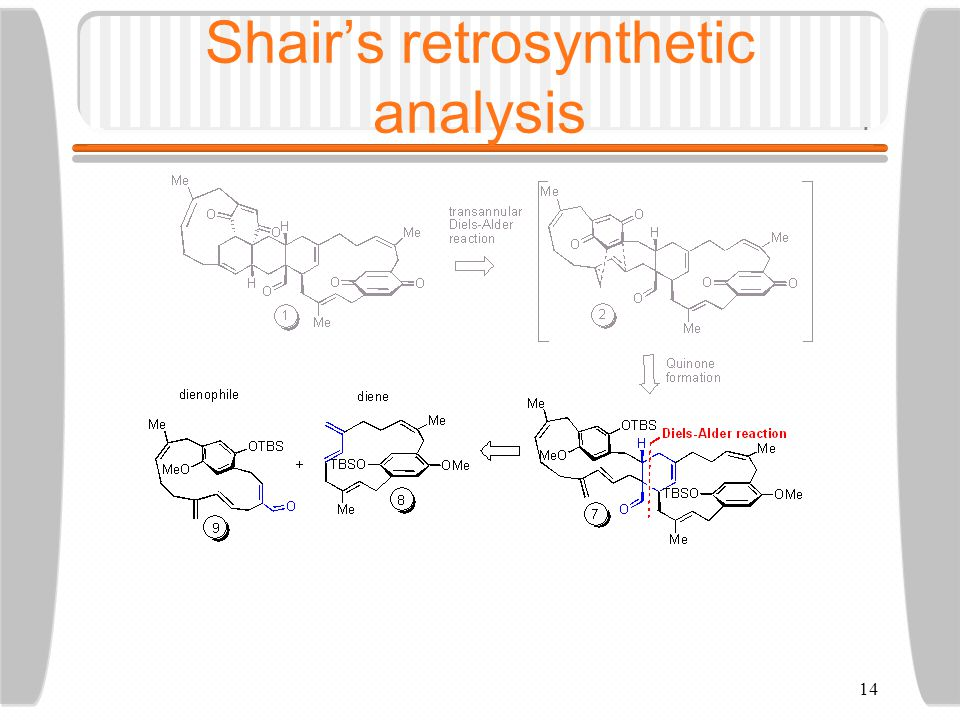 14 Shair's retrosynthetic analysis
