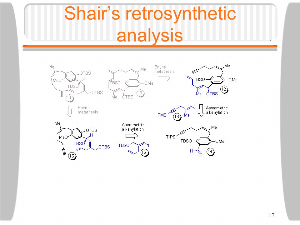17 Shair's retrosynthetic analysis