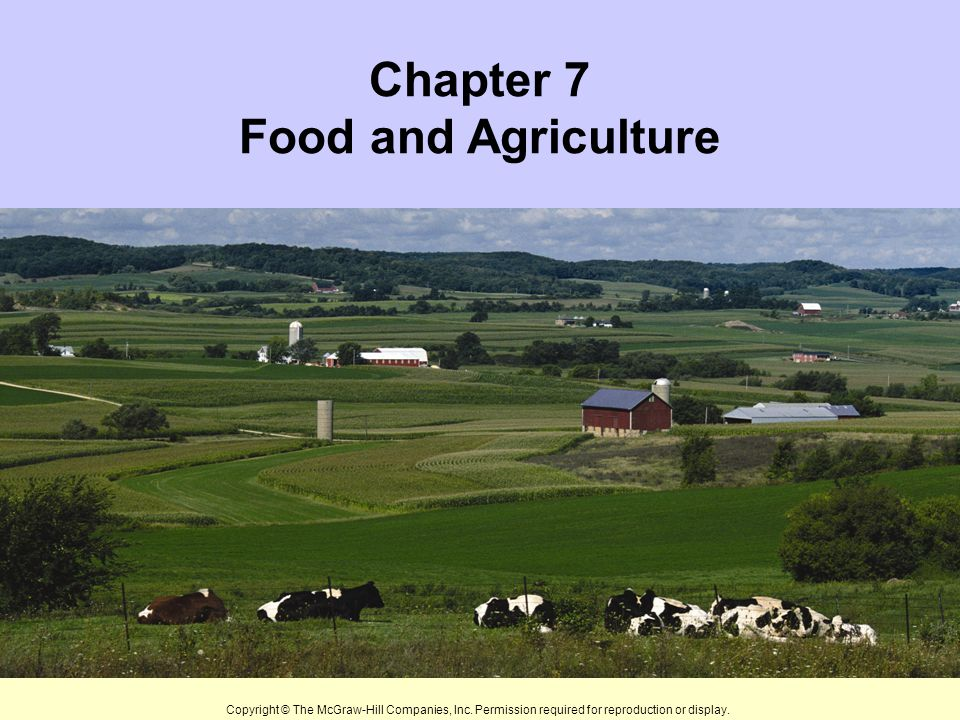 Chapter Seven Topics Food and Nutrition Major Food Sources Soil: A Renewable Resource Ways We Use and Abuse Soil Other Agricultural Resources New Crops and Genetic Engineering Sustainable Agriculture